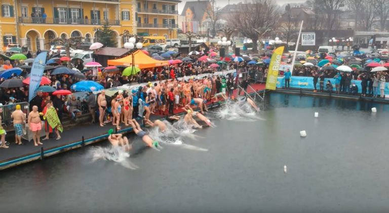 Neujahrsschwimmen 2018 in Velden